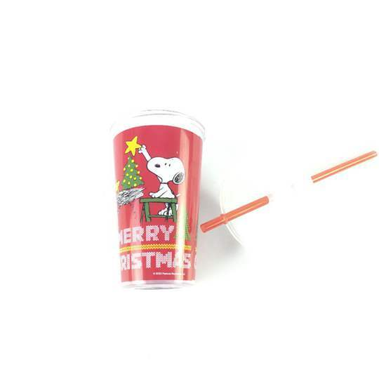Custom Printing Pp+ps Plastic Sealing Film Juice Cup With Straw