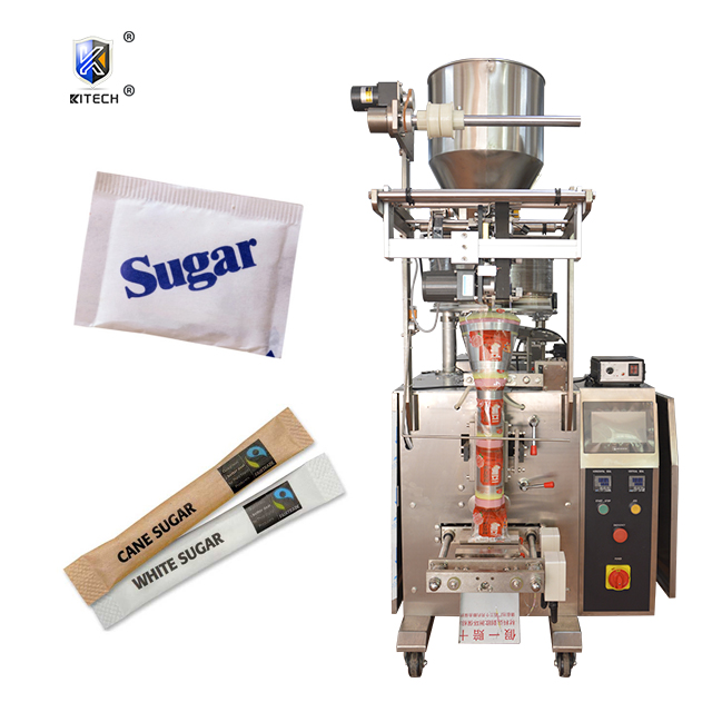 Automatic 5 grams hotel sugar salt granules stick sachet packing machine