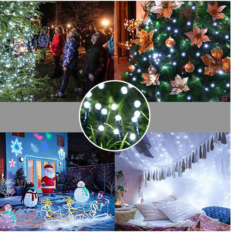 Weekly 10M 20M 30M 50M 100M Outdoor Waterproof LED String Light, Xmas Trees Party Wedding Holiday Decoration LED Christmas Light