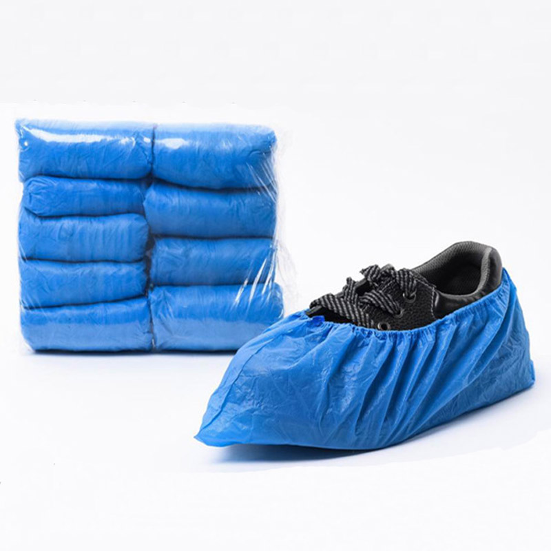 CPE shoe cover,Waterproof, dustproof, disposable plastic shoe cover,15*40,