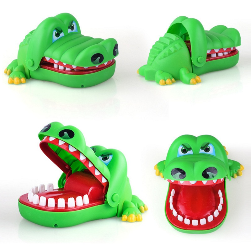 Promotional Gift Crocodile Mouth Dentist Bite Small Finger Toy Bite Crocodile For Kids