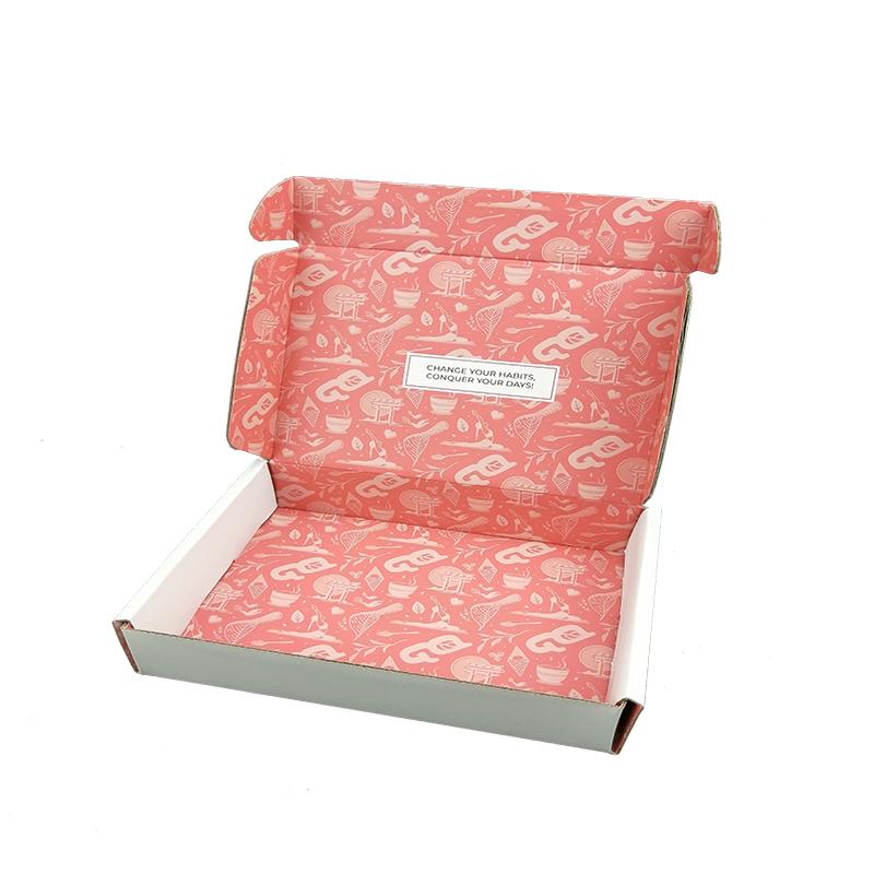 広州カスタマイズ無料メーラーボックスカスタムロゴ Cmyk フルカラー印刷されたサブスクリプションボックス