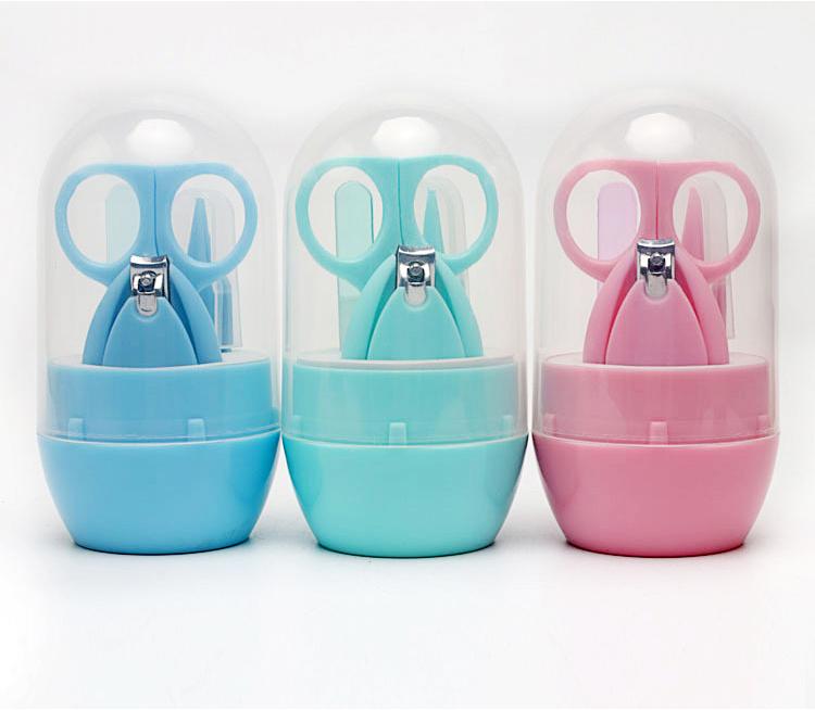4 Pcs सुरक्षित प्लास्टिक कील Trimmer जापानी ढकेलनेवाला कैंची बच्चे नाखून क्लिपर