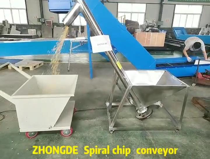 Shandong Zhongde Hoge Kwaliteit Schroeftransporteur voor Verpakking Lijnen