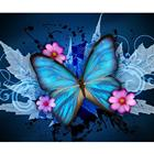 hot selling 30*40CM customized DIY blue butterfly resin 5D diamond painting round square drill