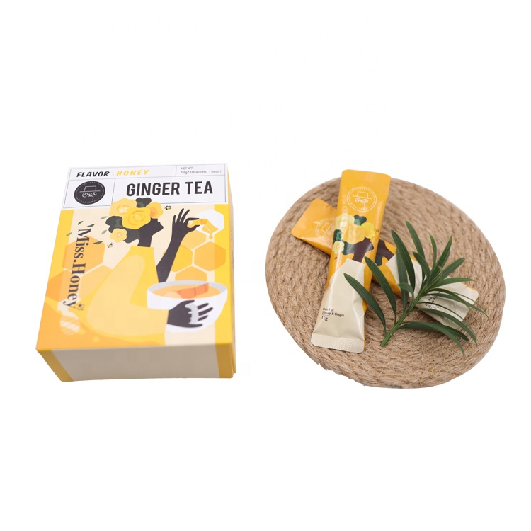 100% Natural Yellow Honey Ginger Tea Powder Energy Drink for weight loss - 4uTea | 4uTea.com