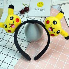 Карманный обруч на голову с монстром Пикачу и Eevee плюшевые игрушки для детей косплей вечерние покеболы Монстр Оголовье для девочек игрушка ...(Китай)