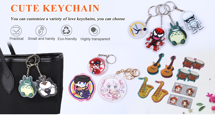 Promotional Gift Custom Printed Acrylic Keychain Clear Anime Key Chain
