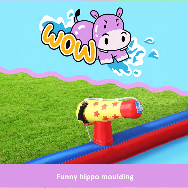 Home Use Cheap Kids Hippo Giant Inflatable Water Slide for Sale China