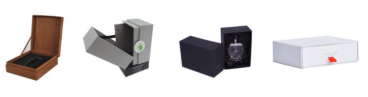YiFeng carta di Imballaggio di Alta Qualità di Stampa nero scatola di carta su misura di disegno di carta vuoto bottiglia magnete di lusso di imballaggio scatola di profumo