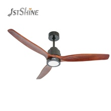 1 Stshine 3 Massief Houten Blades Outdoor <span class=keywords><strong>Lage</strong></span> <span class=keywords><strong>Watt</strong></span> 220 V Dc Motor Omvormer Plafond <span class=keywords><strong>Ventilator</strong></span> Met Led Verlichting Afstandsbediening controle