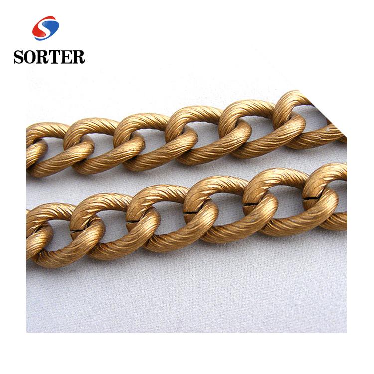 Decorative Bag Accessories Shoulders Matte Gold Metal Chain