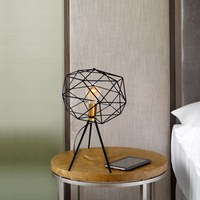 Brass modern metal night table lamp bedroom mini nordic table lamp
