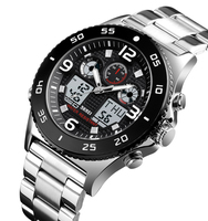 Popular SKMEI 1538 quartz watch stainless steel analog digital watches for men