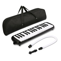 37 Key Melodica Instrument with Mouthpiece Air Piano Keyboard,Carrying Bag Black