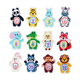 Newborn Keepsake photos picture album scrapbook first year animal baby monthly milestone stickers for baby kids