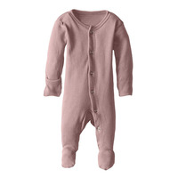 GOTS certified organic cotton baby pajamas footie sleeper
