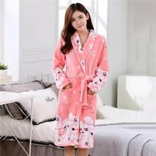 Фланелевый Халат, женское банное платье, пижама, кимоно, сексуальное интимное белье, ночная рубашка из кораллового флиса, ночная рубашка, ...(Китай)