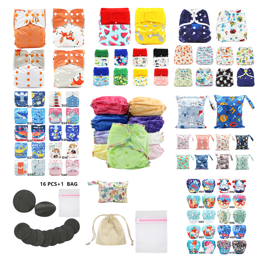 Asenappy Baby One Size Heavy Duty Hook Loop Reusable Baby Cloth Diapers