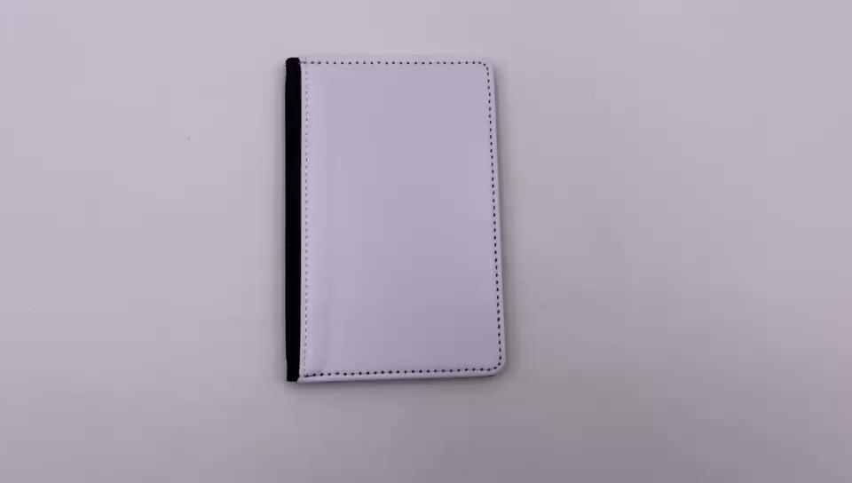 カスタム印刷されたスタイリッシュな黒パスポートホルダー昇華