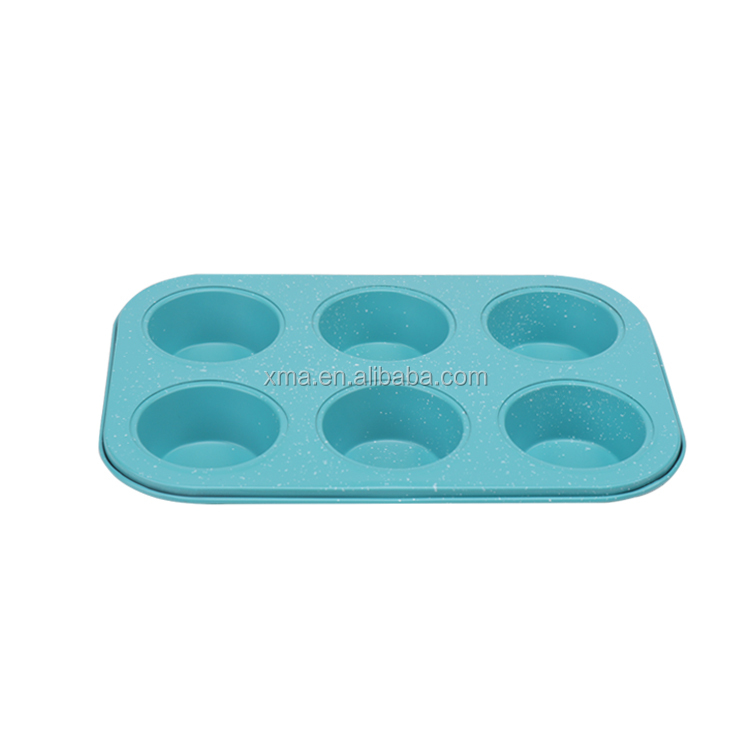 6 tasse Muffin pan/form Backformen Dessert brot kuchen form Backform Löcher cupcake torte runde form