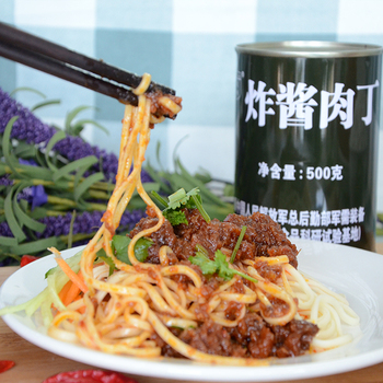 Chinese canned pork sauce fried pork dices with soya bean paste