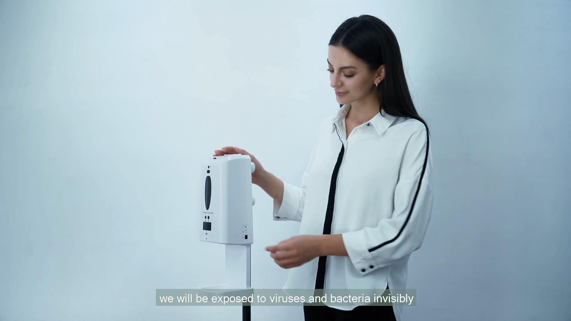 Pfandrecht design wand mount automatische seife dispenser 1300 ml multi-funktion desinfektion maschine