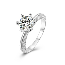 Prijs per karaat moissanite diamond engagement ring
