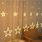 Customized christmas window decoration lights led curtain string light holiday time