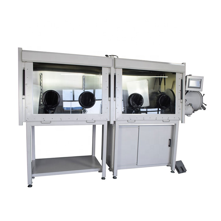 Lab research Vacuum glove box with gas purification system for lithium polymer battery producing