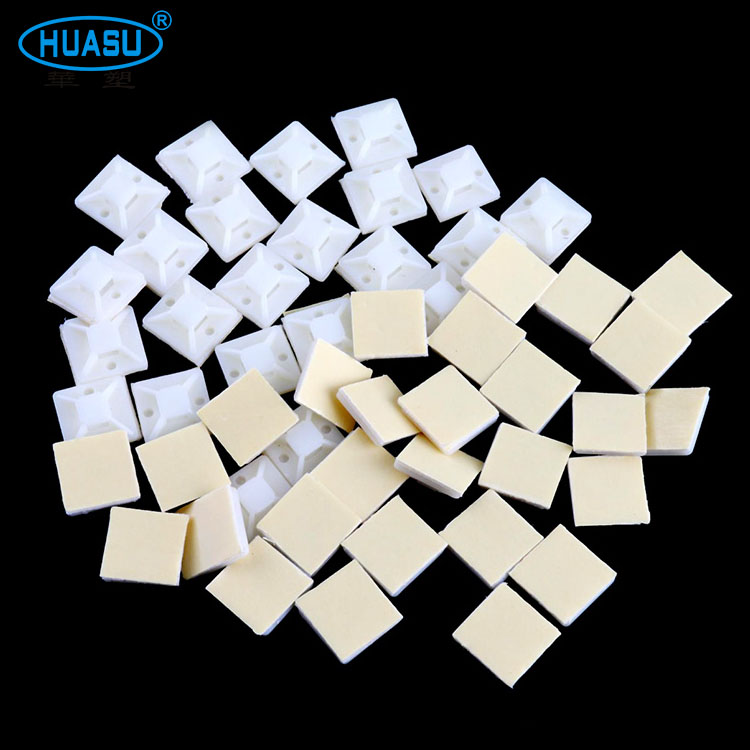 Nylon High Temperature Resistant 20*20MM Self Adhesive Cable Tie Mounts