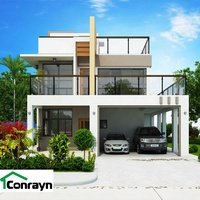 China Conrayn HIgh Quality contemporary Prefab assembled luxury steel villa home