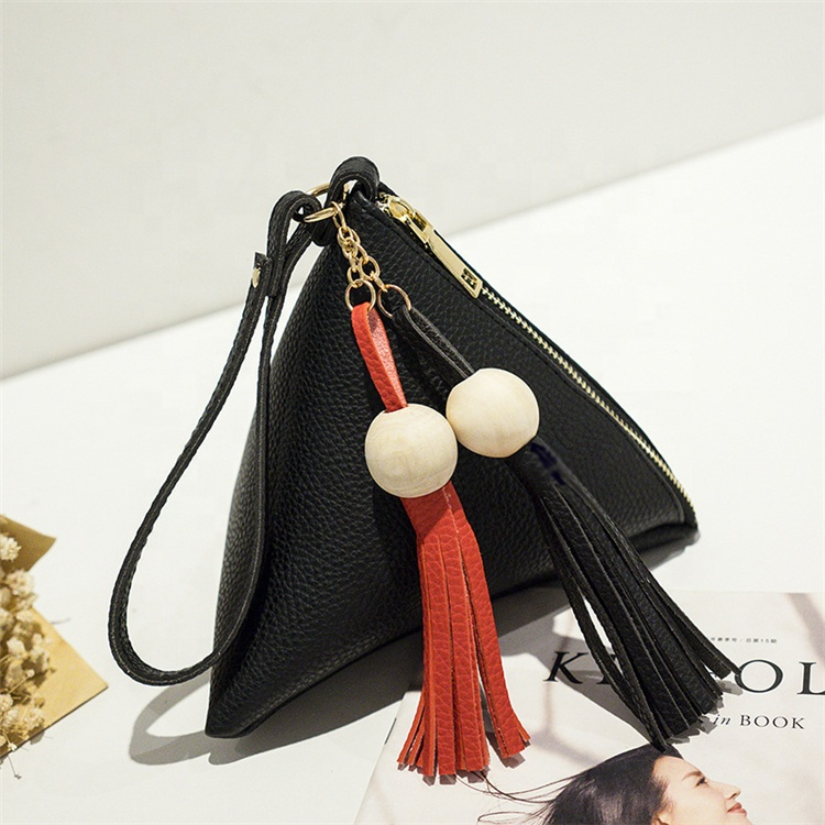 Wholesale <strong>Leather</strong> Handbag Mini Triangle Women <strong>Clutch</strong> Bag Soft Lady <strong>Clutches</strong> Casual Phone Package