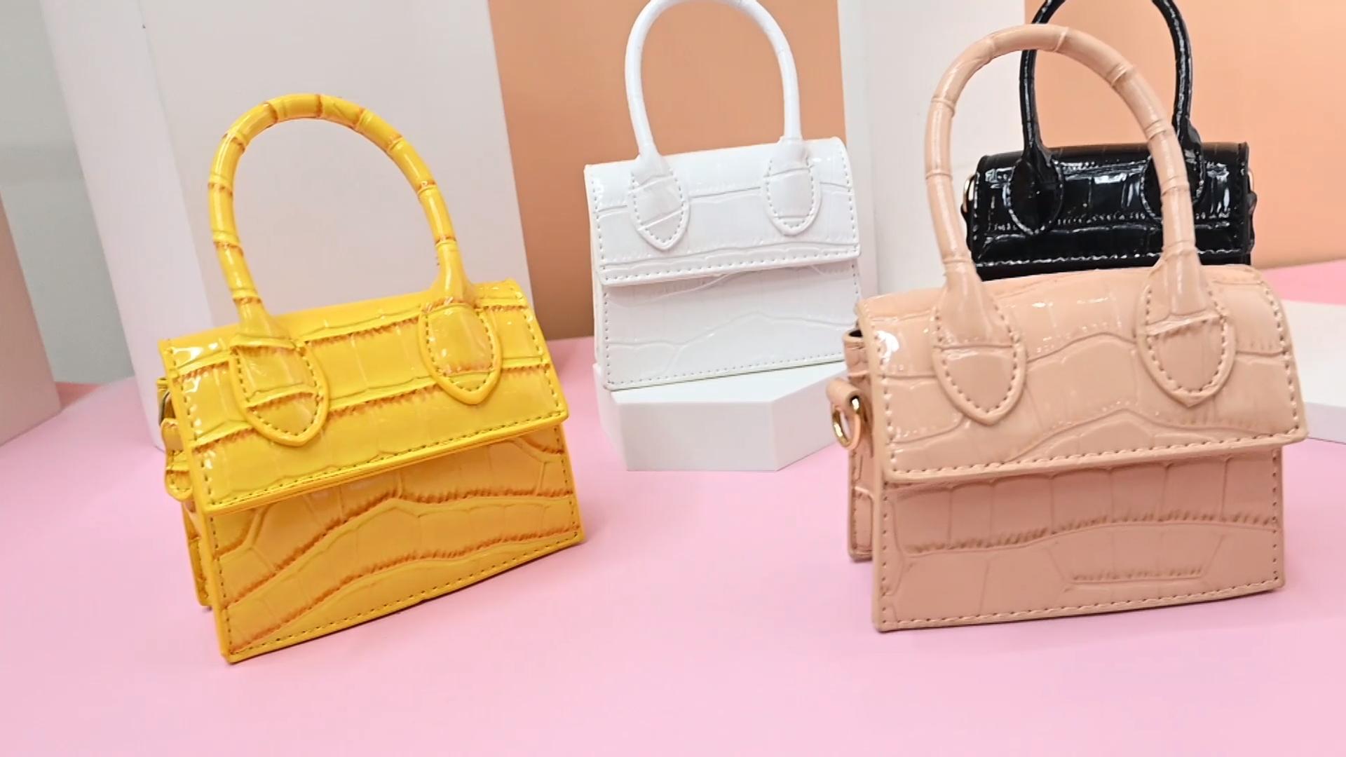 Fashion Design Custom Kids Bows DIY handbags Cheap messenger bags for kids