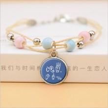 JW. ORG браслет, цветок, стеклянные кулоны подвески керамические браслеты из бисера для женщин, девочек, религия, ювелирные изделия(Китай)