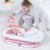 newborn plastic freestanding swim folding baby seat bath tub with shower sling support net abd thermometer