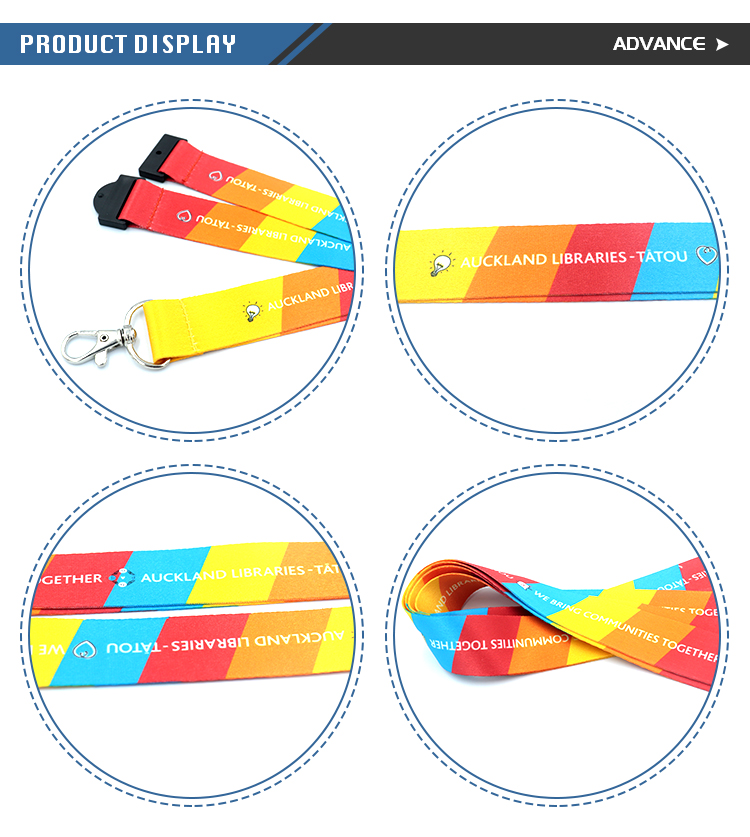 Fashion Rainbow Color Changed By Temperature Lanyard For Id Badge Holder