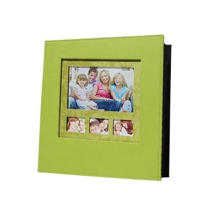 Blank Green PU Leather Photo Album Case