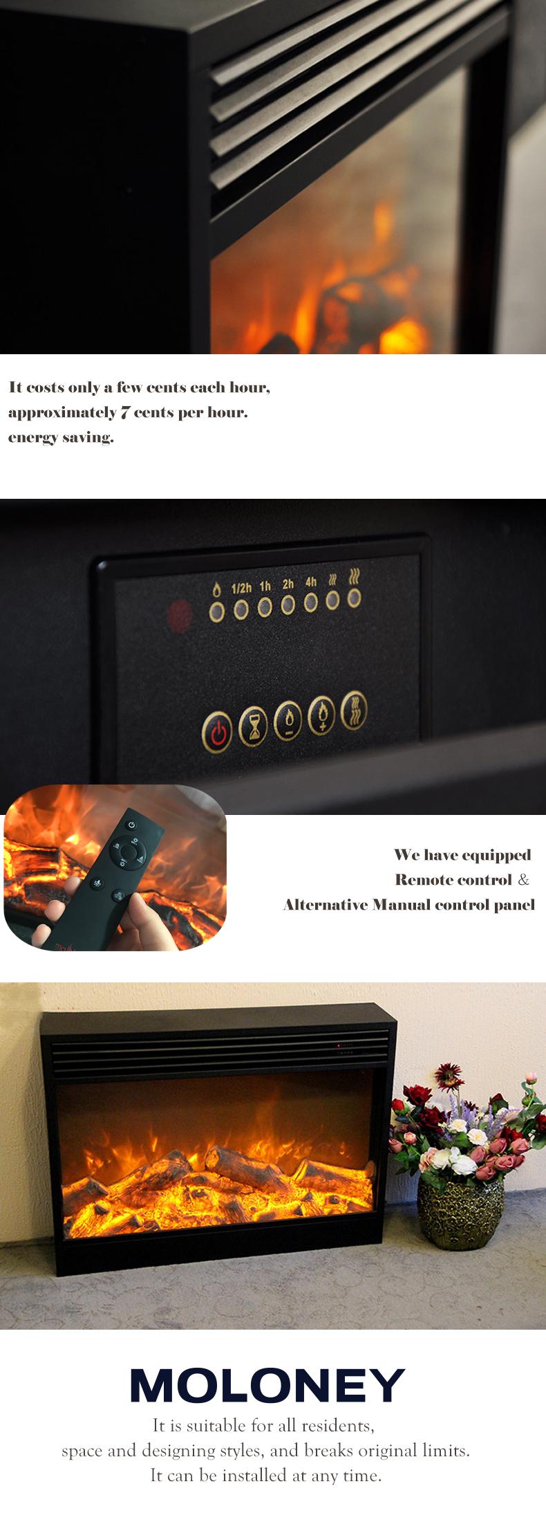 긴 수명 저렴한 월마트 벽난로 삽입 대형 전기 벽난로 불꽃 효과