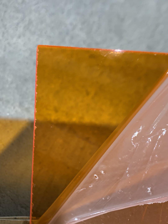 Keshu Color transparent acrylic sheet Acrylic sheet PE Protective Film PMMA Perspex sheet PE Protective Film
