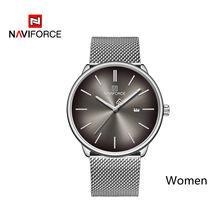 Часы NAVIFORCE мужские и женские, из натуральной кожи, кварцевые, водонепроницаемые(China)