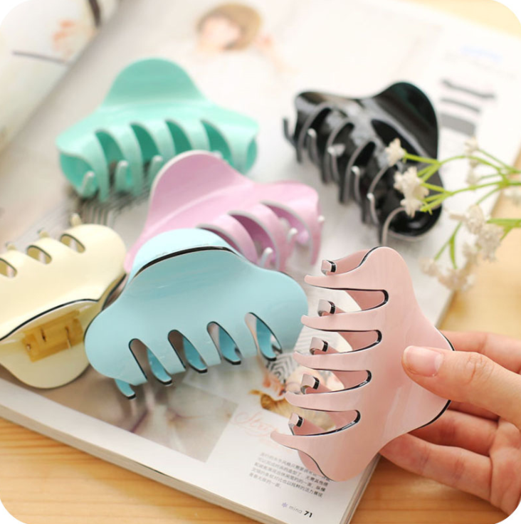 2020 high quality fancy simple multi color cute acrylic hair claw for girls