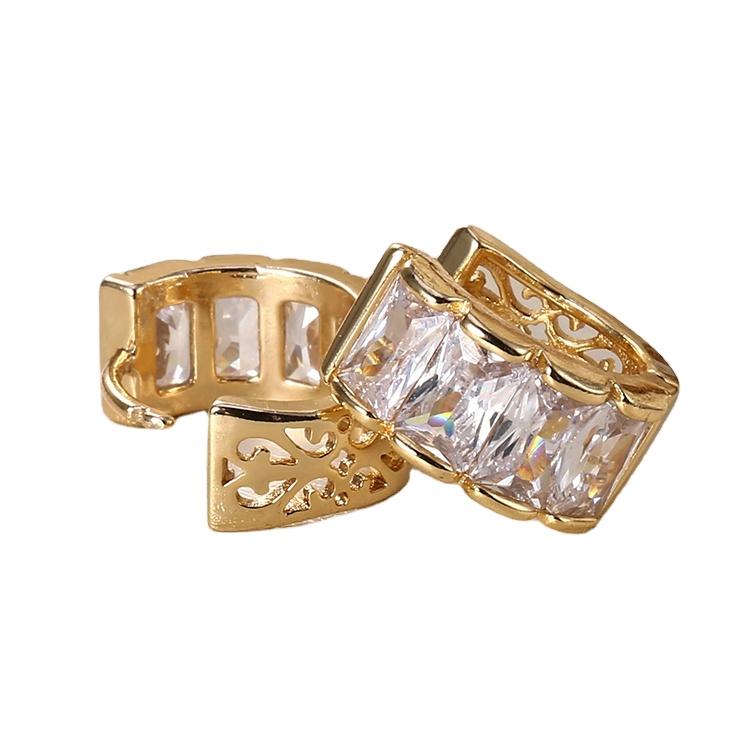2018 HD Fashion New Design Women Earring 18K Gold Plated CZ Earring for Women