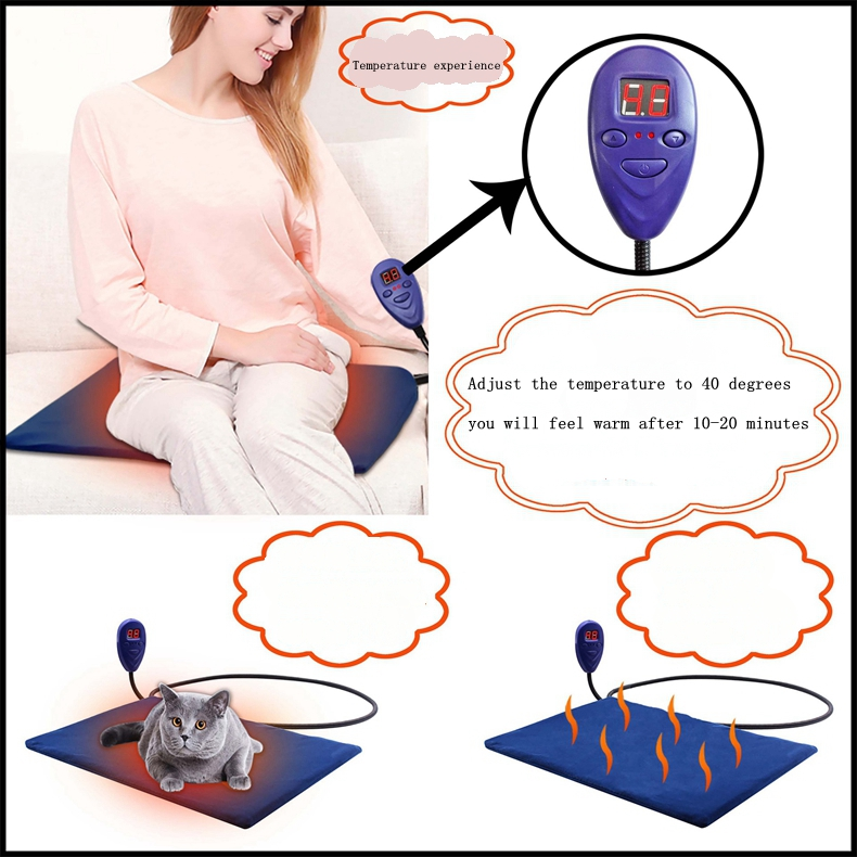 Reusable heat pad pet cushion bed for dogs cats in low price