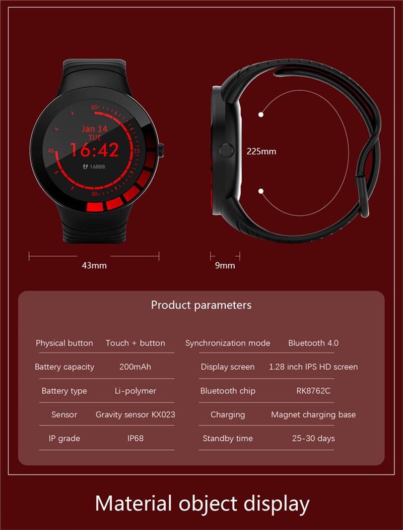 ESEED 2020 E3 Đồng Hồ Thông Minh Thể Thao Nam IP68 Chống Nước Full Màn Hình  Cảm Ứng Nhịp Tim Huyết Áp Theo Dõi Phát Nhạc Đồng Hồ Thông Minh  Smartwatch|Smart Watches