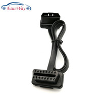 60CM Flat Thin As Noodle Cable OBD OBD2 OBDII 16Pin Male To Female Car Diagnostic OBD Extension Cable