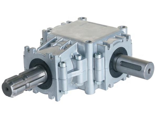 L série 90 grau alumínio ângulo direito bisel caixa de velocidades peças de máquinas agrícolas para o sal de espalhamento de fertilizantes sp