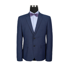 Stretch slim mens work suit design clothes dark blue wedding frock suits for groom men