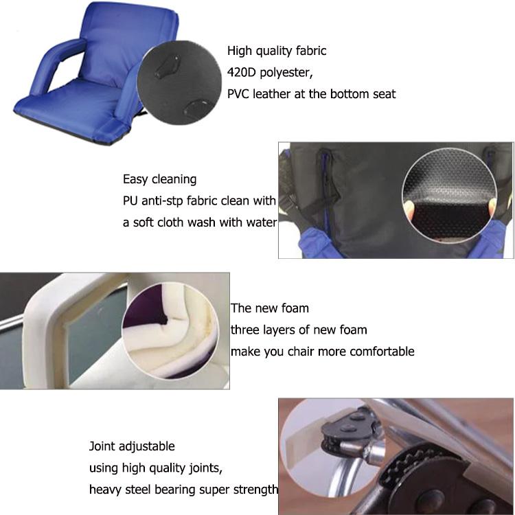 Floor Sofa Portable Low Outdoor Foldable Reclining Beach Chair Stadium Seat Folding