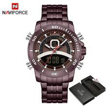 NAVIFORCE роскошные часы Мужские Цифровые Спортивные военные кварцевые наручные часы светящиеся водонепроницаемые часы мужские Relogio Masculino(Китай)